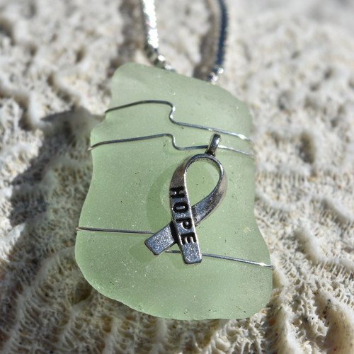 Hope Ribbon Necklace