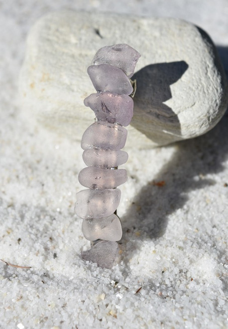 Purple Sea Glass French Barrette