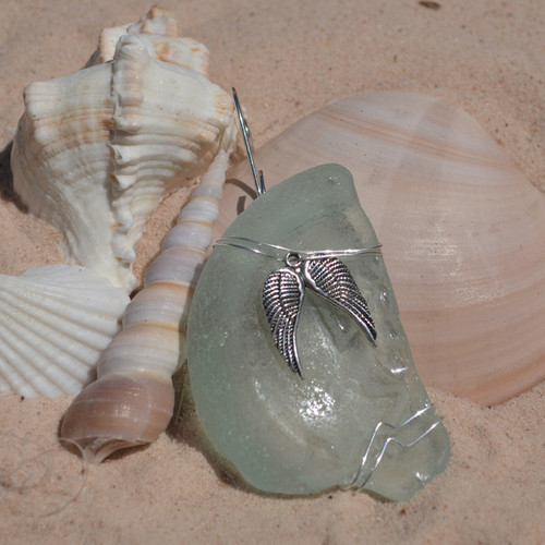 Wire Wrapped Angel Wings Christmas Ornament