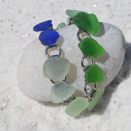 Sea Glass Charm Bracelet