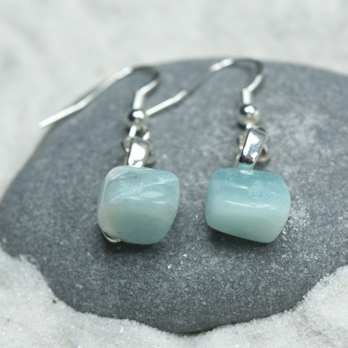 Amazonite Stone  Earrings