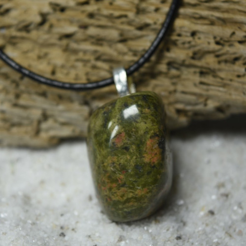 Unakite Jasper Stone Pendant