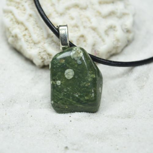 Tumbled Rhyolite Stone Pendant