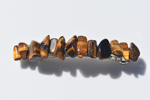 Gold Tiger's Eye Stone Barrette