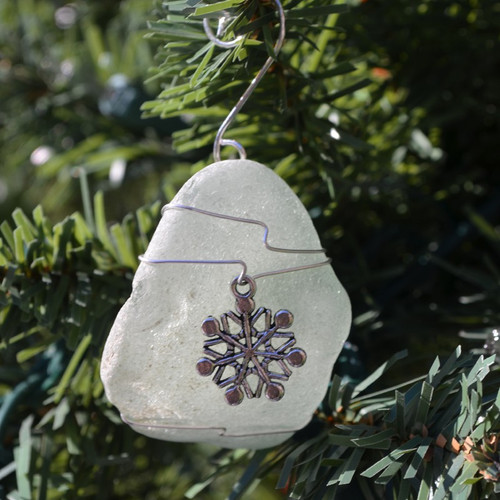 Wire Wrapped Snowflake Ornament