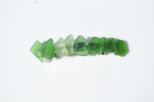 Green Sea Glass French Barrette