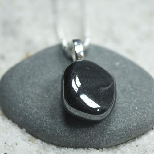 Hematite Stone Pendant and Necklace