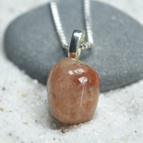 Tumbled Sunstone Pendant and Necklace
