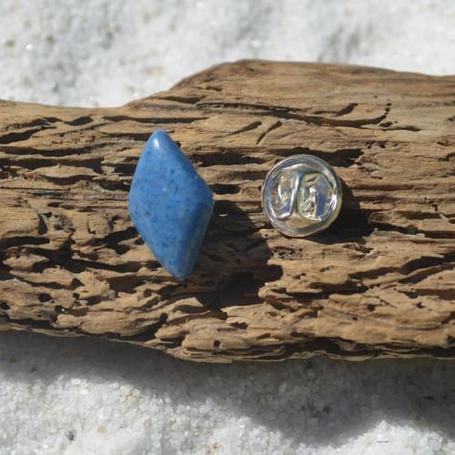 Blue Aventurine Cabochon Stone Tie Tack