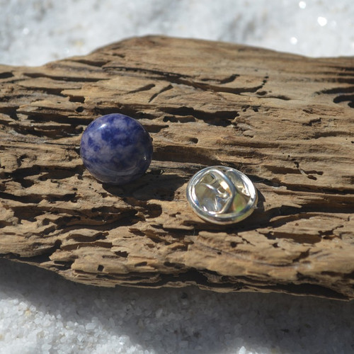 Sodalite Cabochon Stone Tie Tack