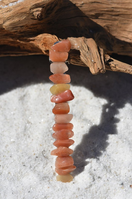 Peach Quartz Stone Hair Clip
