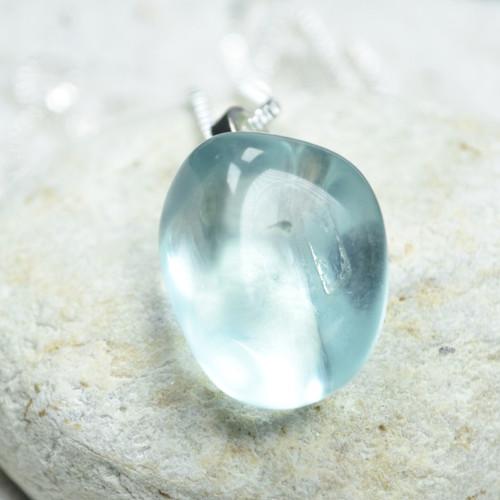 Aqua Obsidian Stone Pendant