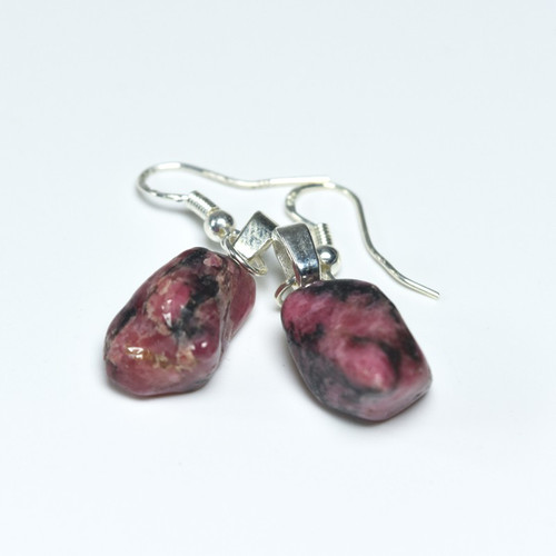 Rhodonite Stone Earrings
