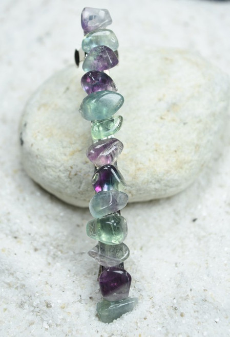 """Fluorite Stone French Barrette Hair Clip 4"""" or 100 mm Length"""