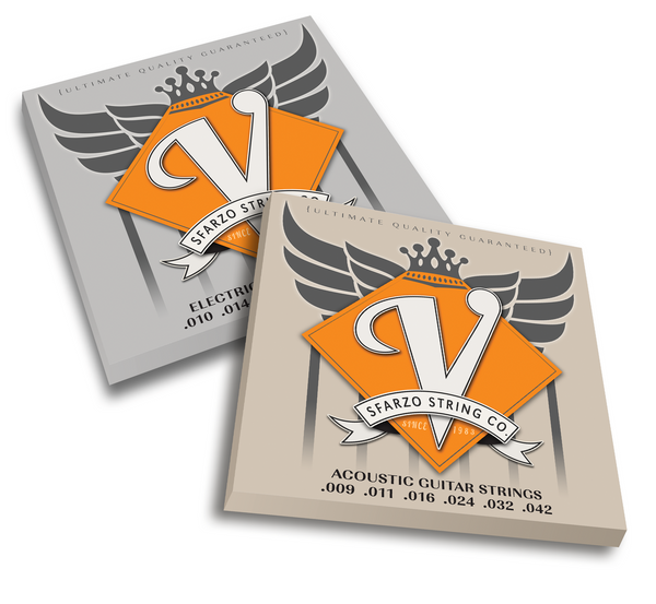 V STRING ACOUSTIC SETS Focused on that old Vintage Sound. Maximum output, harmonic response, and ultimate flexibility