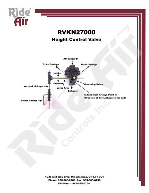 Leveling Valve (Plastic W/Linkage) (RVKN27000)