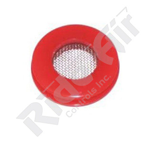Red Urethane Gladhand Seal W/Filter (RT36012F)