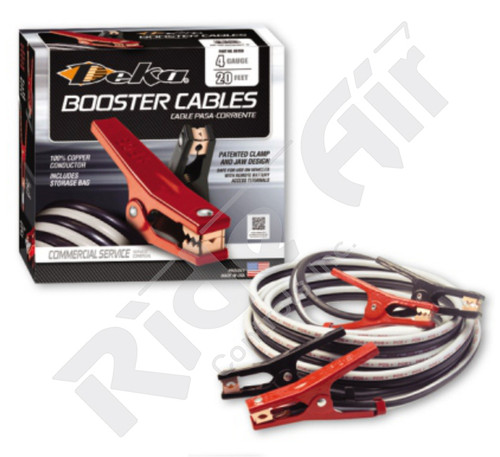 Medium Duty Booster Cables (4 Gauge) (RE704EBC-20)