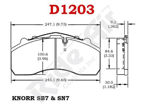 Vortex Air Disc Brake Pads (RADV1203)