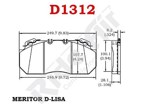 RADV1312 - Vortex Air Disc Brake Pads