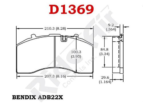 RADV1369 - Vortex Air Disc Brake Pads