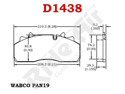 RADV1438 - Vortex Air Disc Brake Pads