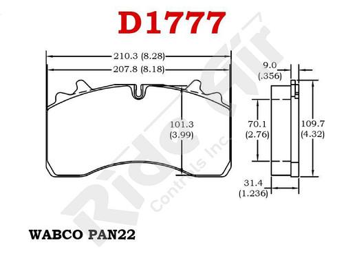 RADV1777 - Vortex Air Disc Brake Pads