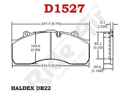 RADV1527 - Vortex Air Disc Brake Pads