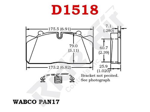 RADV1518 - Vortex Air Disc Brake Pads