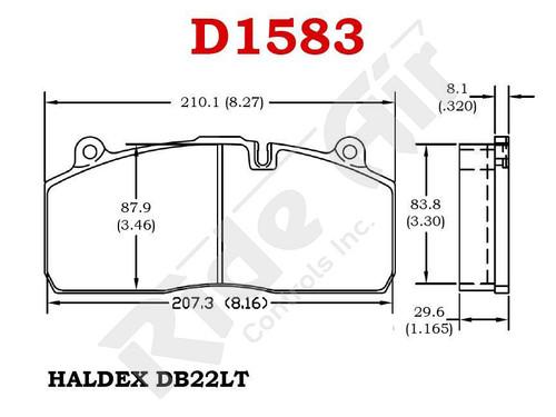 RADV1583 - Vortex Air Disc Brake Pads (RADV1583)