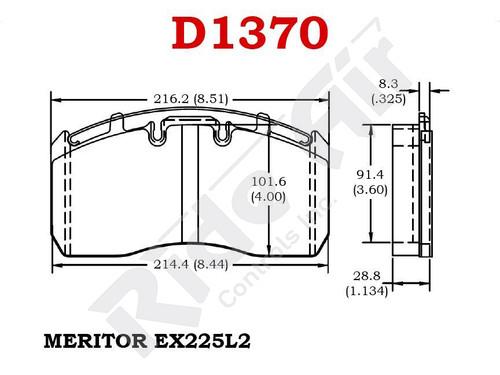 RADV1370 - Vortex Air Disc Brake Pads (RADV1370)
