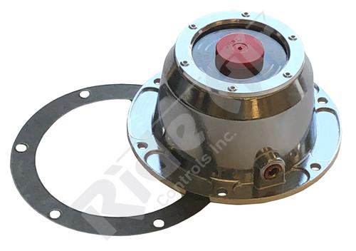 RA4195 - 6 Hole Aluminum Hub Cap W/ Gasket & Side Plug