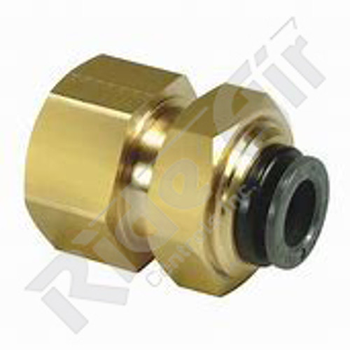 "KV2E11-36 - Bulkhead Connector 3/8"" Tube 3/8"" NPT"