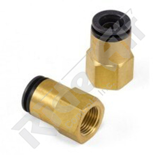 "KV2F11-36 - Female Connector 3/8"" Tube 3/8"" NPT"