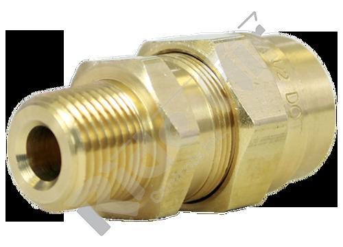 "1492-8C - Male Connector 1/2"" Tube x 3/8"" NPT w/o Spring"