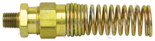 """1493-6B - Male Connector 3/8"""" Tube x 1/4"""" NPT with Spring"""