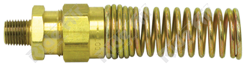 """Male Connector 3/8"""" Tube x 3/8"""" NPT with Spring (1493-6C)"""