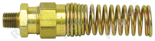 """1493-8C - Male Connector 1/2"""" Tube x 1/2"""" NPT with Spring"""