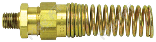 """1493-8D - Male Connector 1/2"""" Tube x 3/8"""" NPT with Spring"""