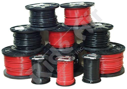 Battery Cable 4 Gauge Black 500 ft (RE704B-500)