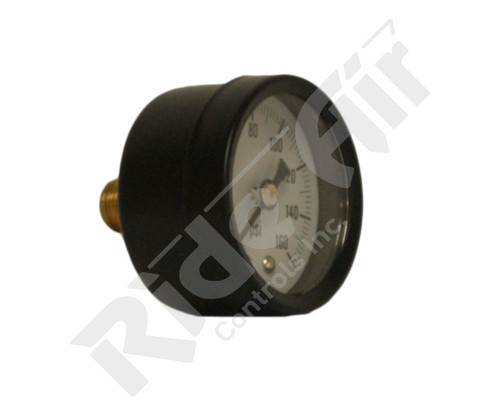 "RA315C - Air Gauge 1.5"" 0-160psi 1/8"" Centre Back (RA315C)"