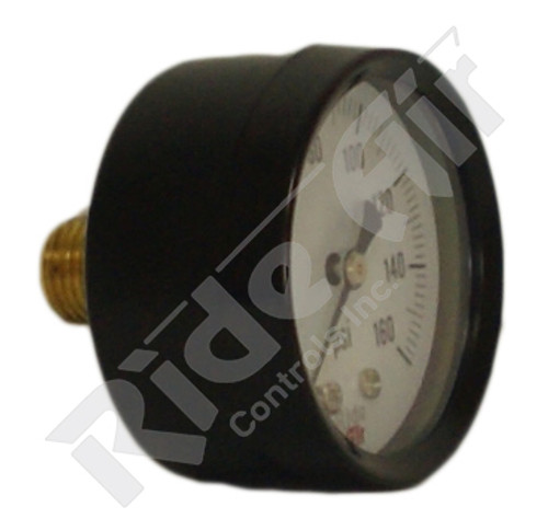 "RA320C - Air Gauge 2"" 0-160psi 1/4"" Centre Back Mount (RA320C)"