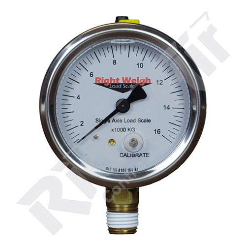RW-250-30KG-LM - Tri Axle Analog Liquid Filled Gauge Lower Mount - KG (RW-250-30KG-LM)