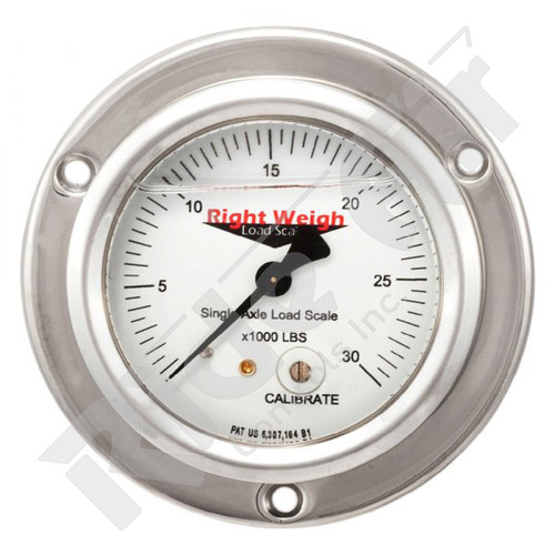 RW-250-54-FF - Tandem Axle Analog Liquid Filled Gauge Flange Mount - KG (RW-250-54-FF)