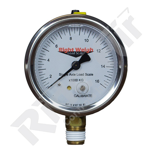 RW-250-54-LM - Tandem Axle Analog Liquid Filled Gauge Lower Mount - KG (RW-250-54-LM)