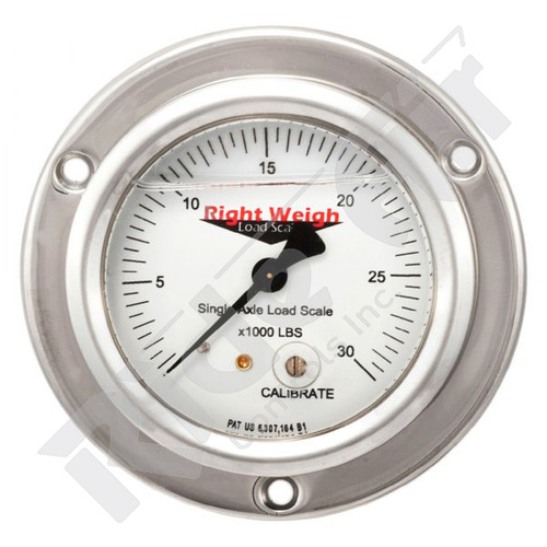 RW-250-64-FF - Tri Axle Analog Liquid Filled Gauge Flange Mount - KG (RW-250-64-FF)