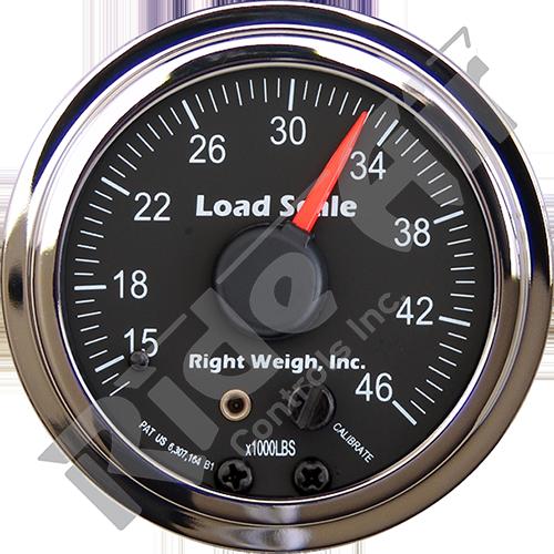 RW-510-46-B  - In-dash Analog Scale Gauge - Tandem Drive Axle - Black