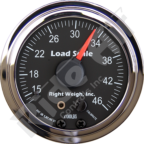 RW-510-46-C - In-dash Analog Scale Gauge - Tandem Drive Axle - Chrome (RW-510-46-C)