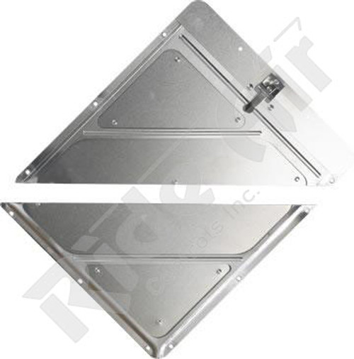 RA910SPLIT - Single Clip Aluminum Placard Holder - Split (RA910SPLIT)