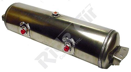 "RQA1242 - Aluminum Air Tank 12"" x 29.5"" 2- 3/4 ports @180 deg, inv.brkts. (RQA1242)"